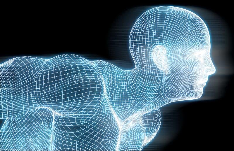 Наука технологии фитнеса иллюстрация вектора