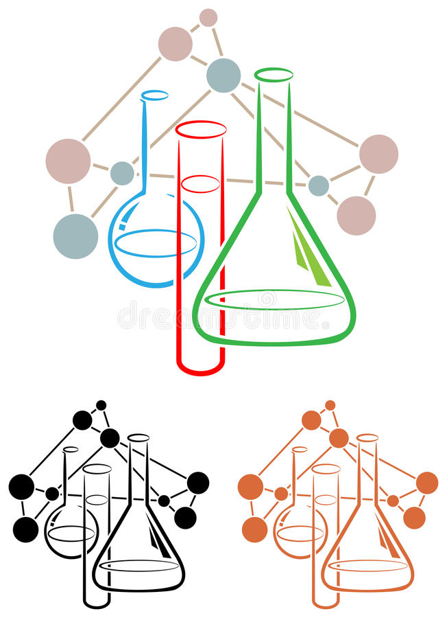 Наука химии иллюстрация штока