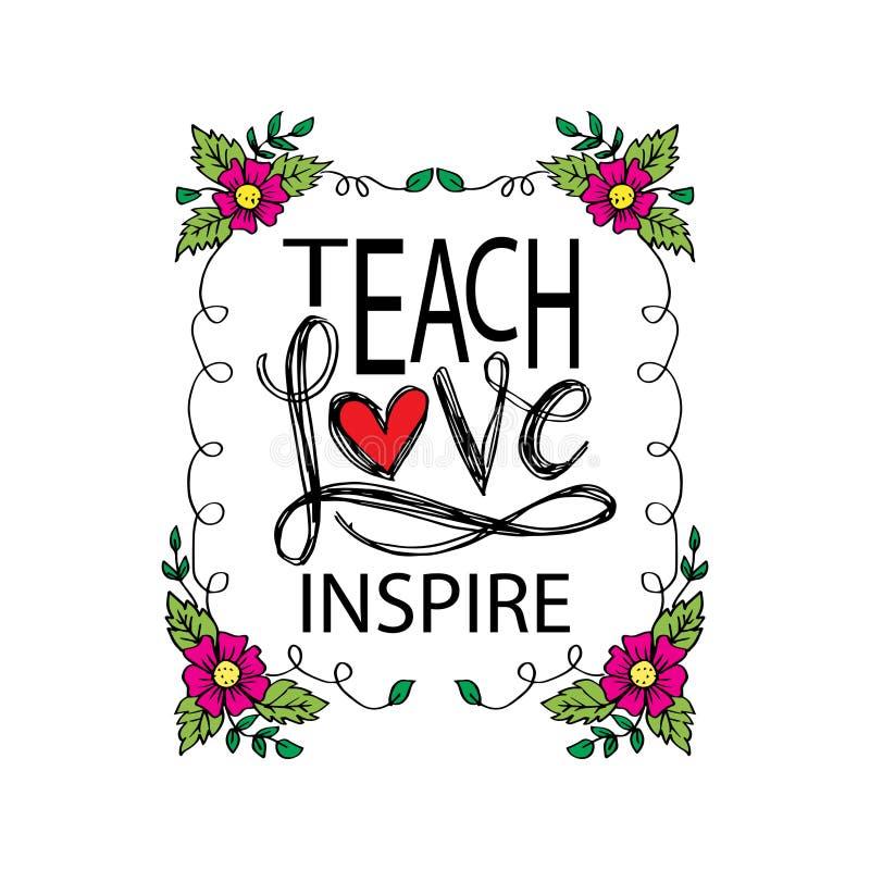 Научите любов для того чтобы воодушевить бесплатная иллюстрация