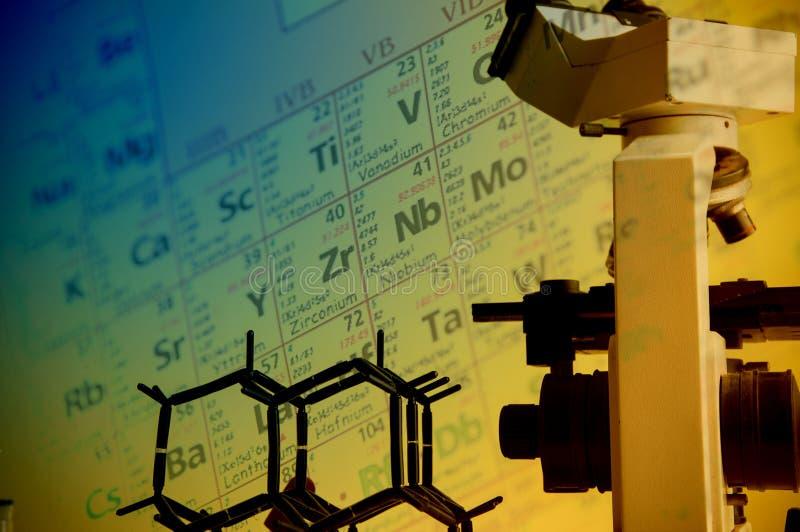 Научная лаборатория с химической темой стоковое фото rf