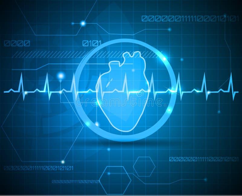 Научное сердце иллюстрация вектора