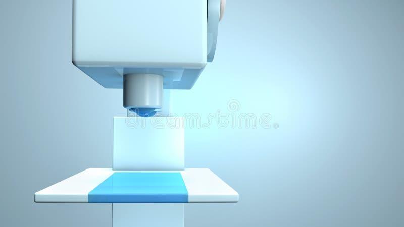 Научный крупный план микроскопа иллюстрация вектора