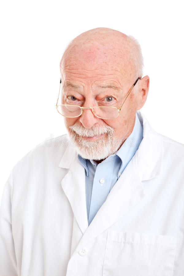 научный работник аптекаря доктора велемудрый стоковое изображение