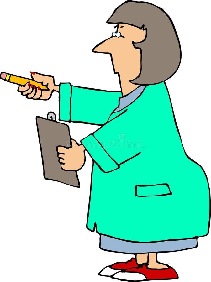 научный работник иллюстрация вектора