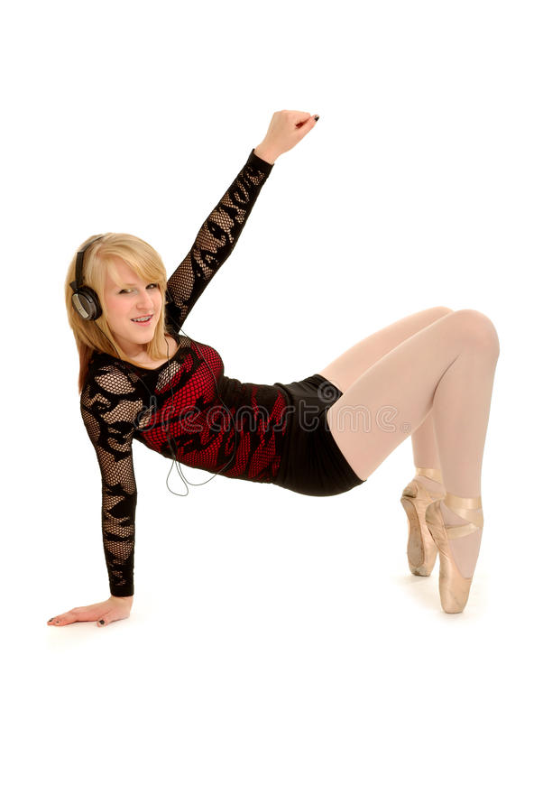наушники балерины в стиле фанк стоковые фотографии rf