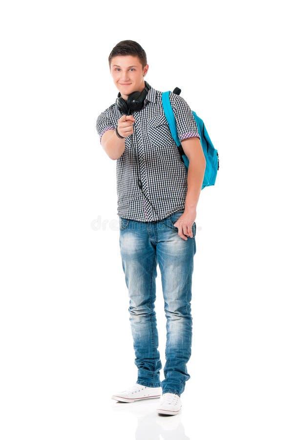 наушники мальчика предназначенные для подростков стоковые изображения
