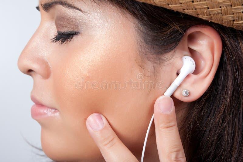 наушники earbud стерео стоковые фотографии rf