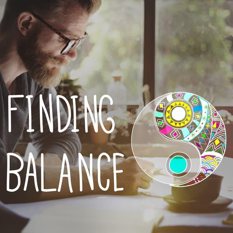 Находить концепция благополучия Yin-yang баланса стоковая фотография rf