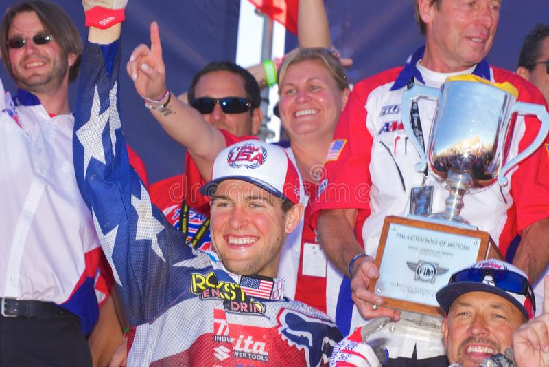 нации motocross объениняются в команду США стоковое изображение rf
