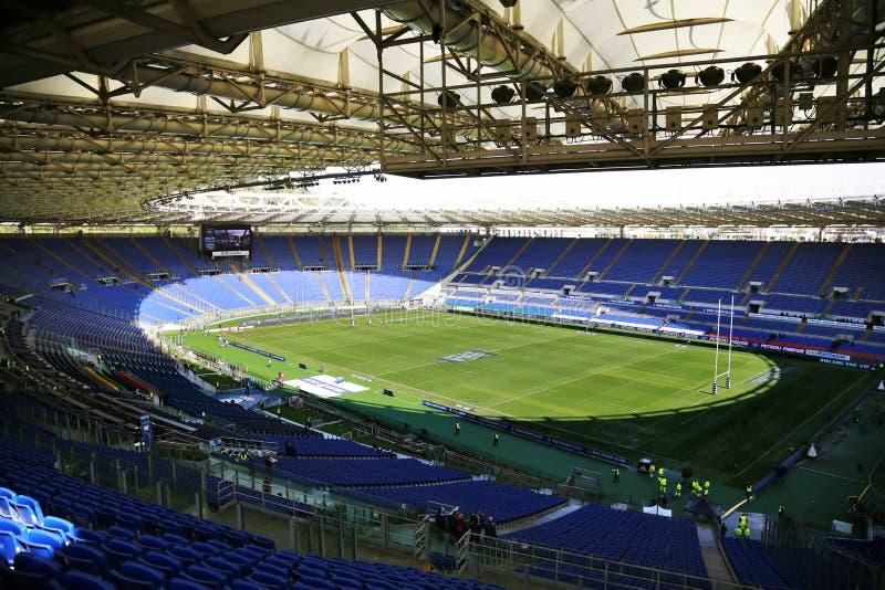 НАЦИИ 2014 RBS 6 - РИМ, OLYMPIC STADIUM стоковое изображение