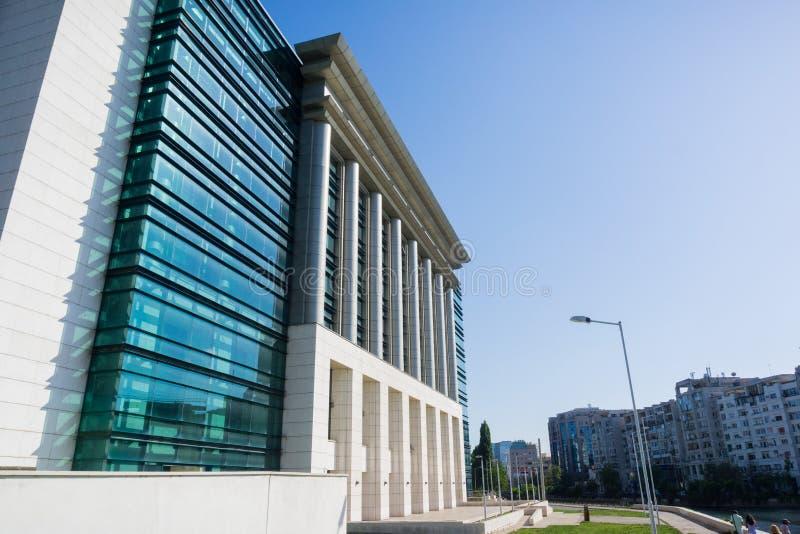 Национальная библиотека здания Румынии, Бухареста стоковая фотография rf