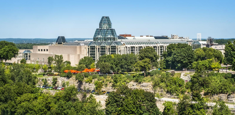 Национальная галерея города Канады Оттавы стоковое фото rf