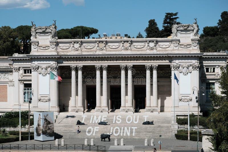 Национальная галерея современного искусства в Риме стоковые фото