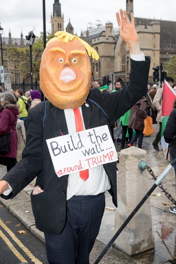 Национальная демонстрация: Правосудие теперь - сделайте его правой для Палестины Лондона стоковое фото