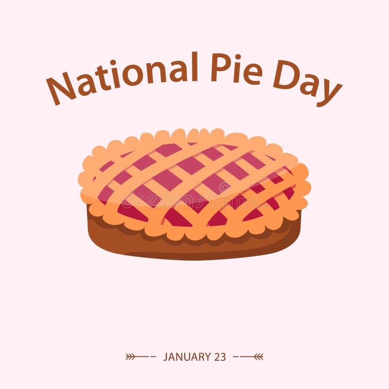 Национальная иллюстрация вектора дня пирога, плоский стиль иллюстрация штока