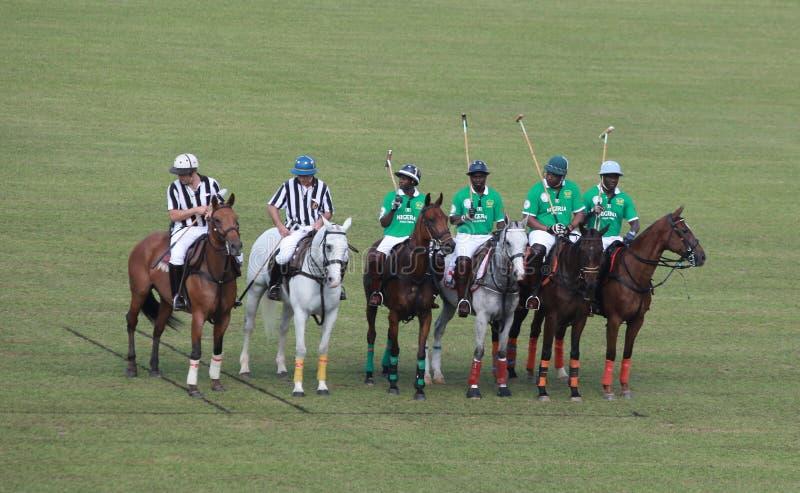 национальная команда поло Нигерии стоковая фотография