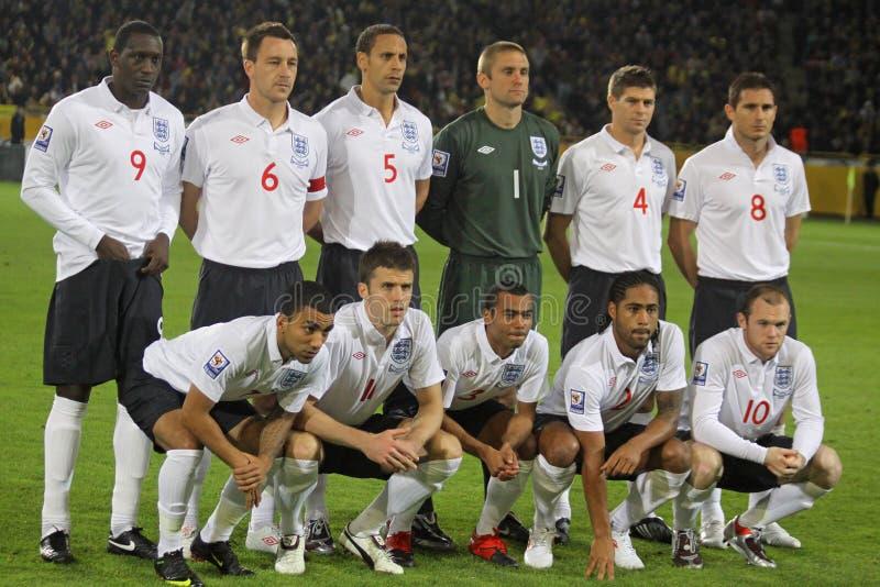 национальная команда футбола Англии стоковая фотография rf