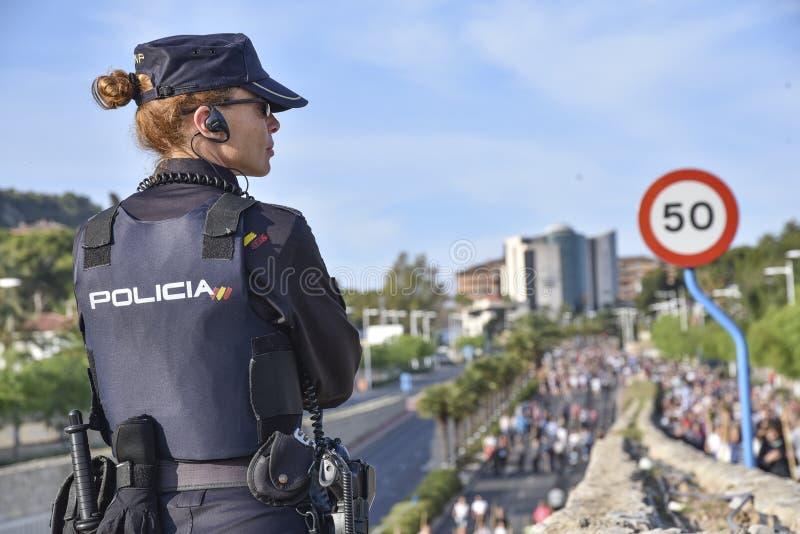 Национальная полиция наблюдает паломничество стоковые изображения