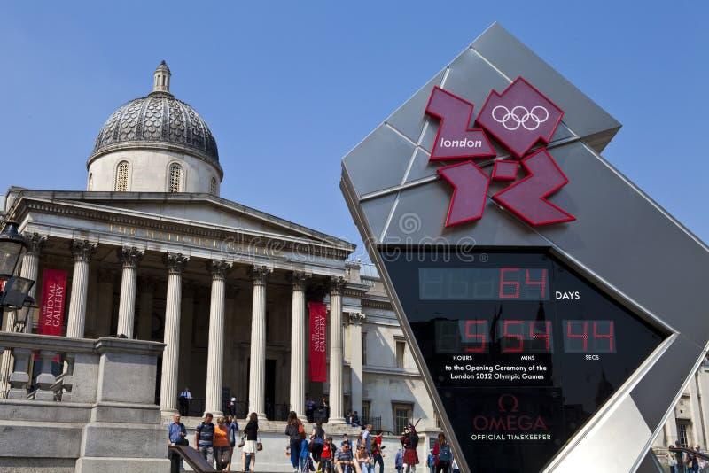 Национальная штольн и олимпийские часы комплекса предпусковых операций стоковые изображения rf