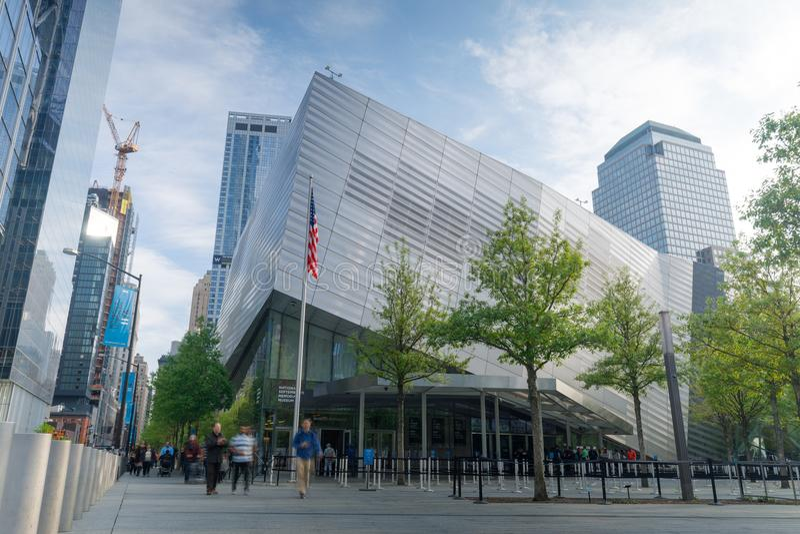 Национальные мемориал & музей 11-ое сентября в более низком Манхаттане стоковые фото