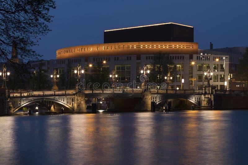Национальные опера и балет - Амстердам - Нидерланды стоковое изображение