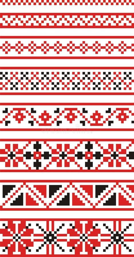 национальные орнаменты русские иллюстрация штока
