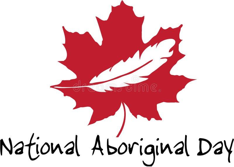 Национальный аборигенный логотип Канады дня стоковое изображение rf