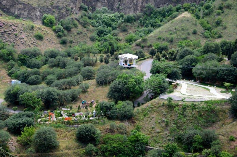 Национальный ботанический сад Georgia с японскими садами и zipline составляют Тбилиси стоковое изображение