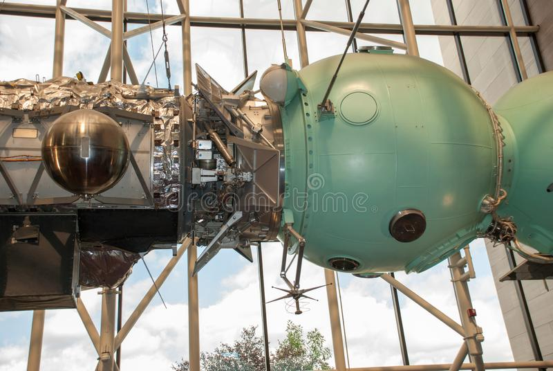 Национальный воздух и музей космоса (NASM) - проект теста Союз-Аполлон стоковая фотография