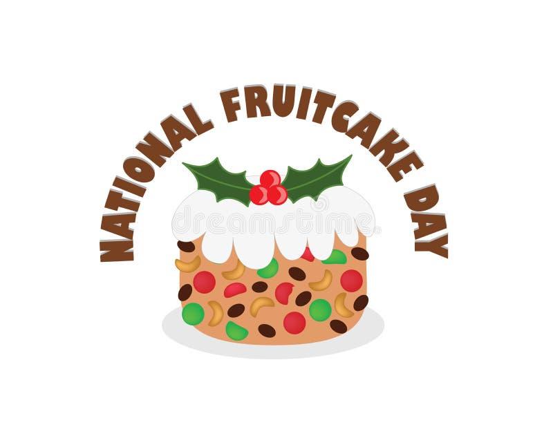 Национальный день Fruitcake бесплатная иллюстрация