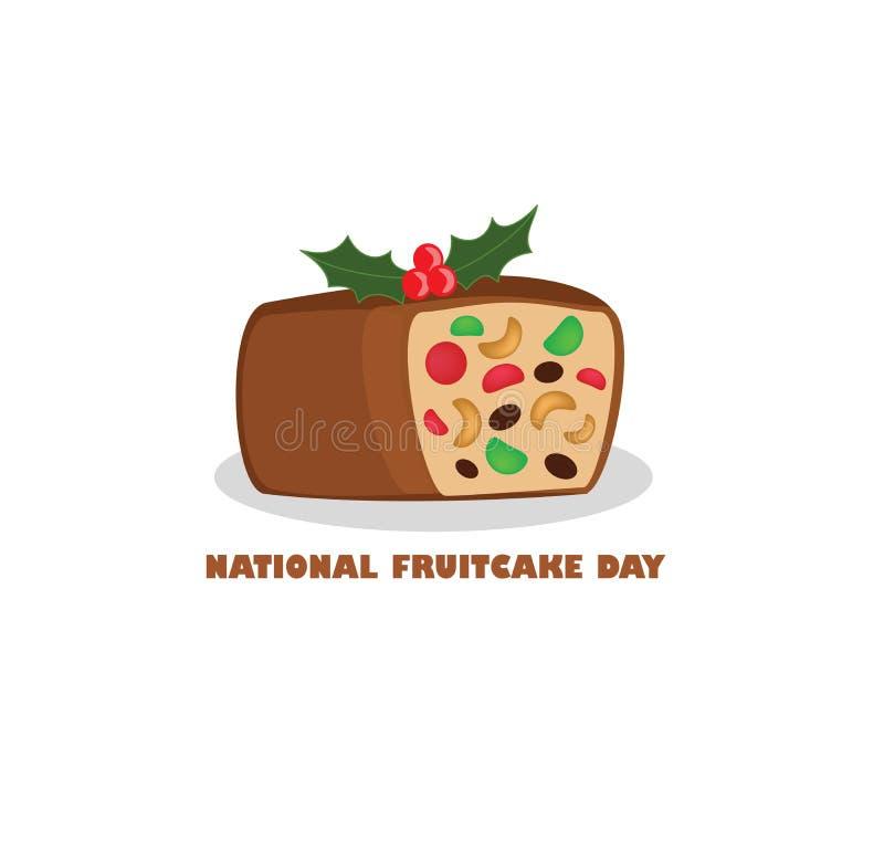 Национальный день Fruitcake иллюстрация штока