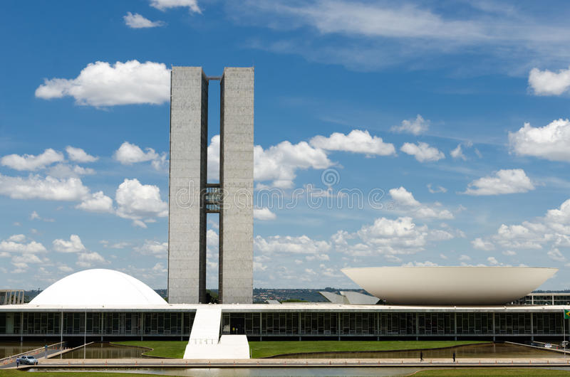 Национальный конгресс Бразилии стоковые изображения