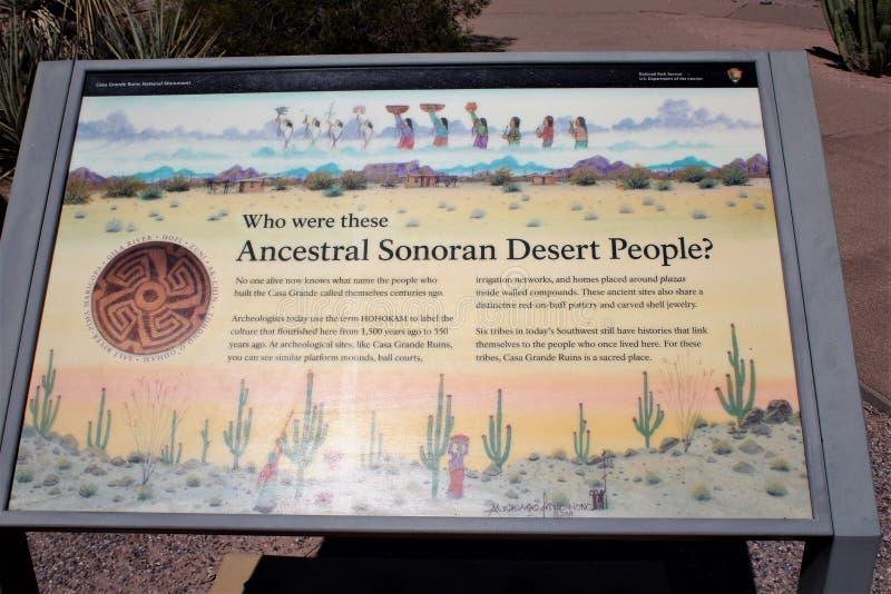 Национальный монумент Аризона руин Касы большой стоковые фото