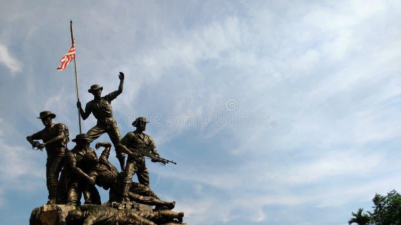Национальный монумент Малайзия стоковые фотографии rf