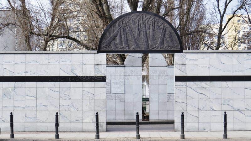 Национальный монумент на ` s Umschlagplatz гетто стоковые фото