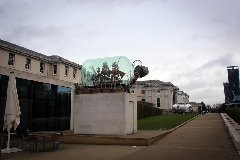 Национальный морской музей в Гринвиче, Лондоне, Великобритании стоковые изображения rf