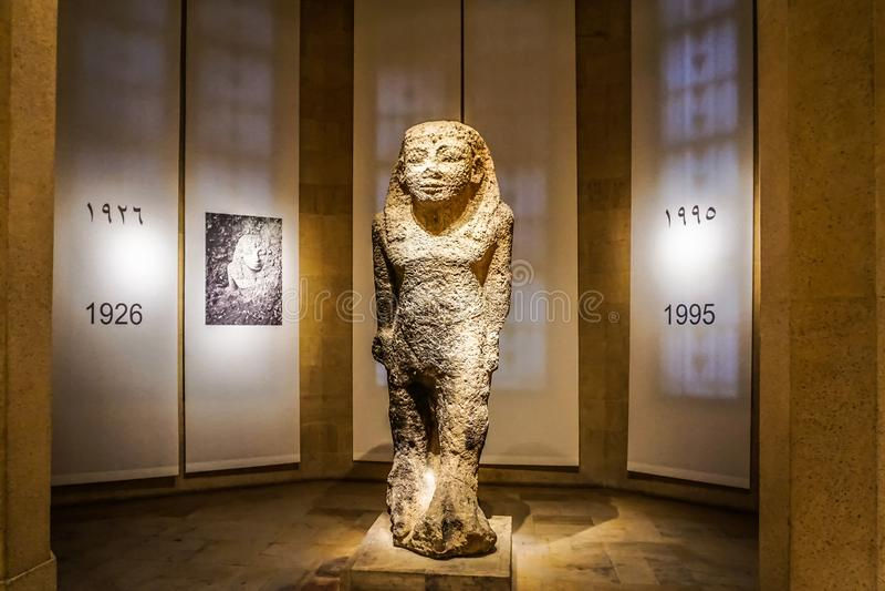 Национальный музей 19 Бейрута стоковое изображение