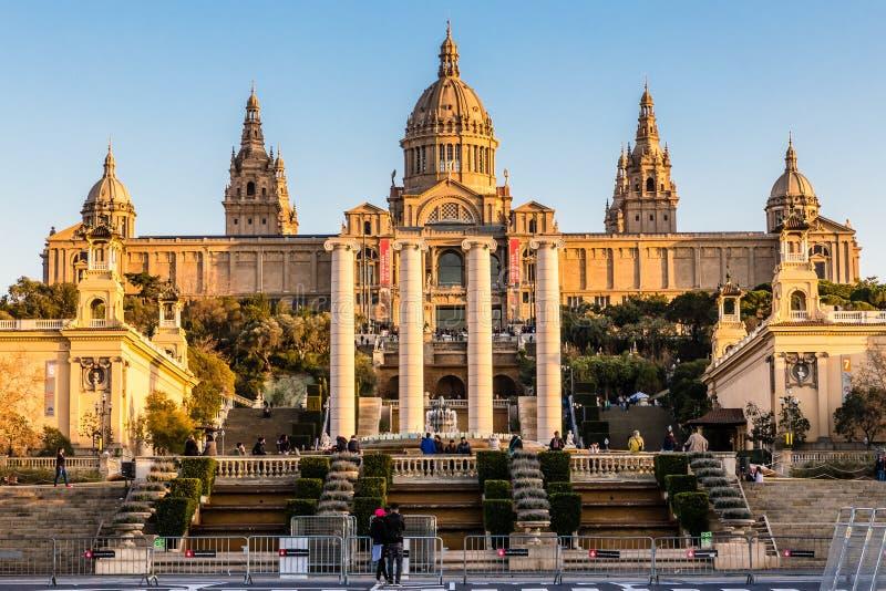 Национальный музей изобразительных искусств Каталонии - Барселоны, Испании стоковые фото