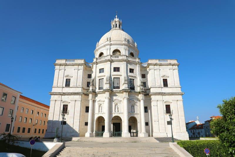 Национальный пантеон церковь Санты Engracia памятник семнадцатого века Лиссабона, Португалии стоковая фотография