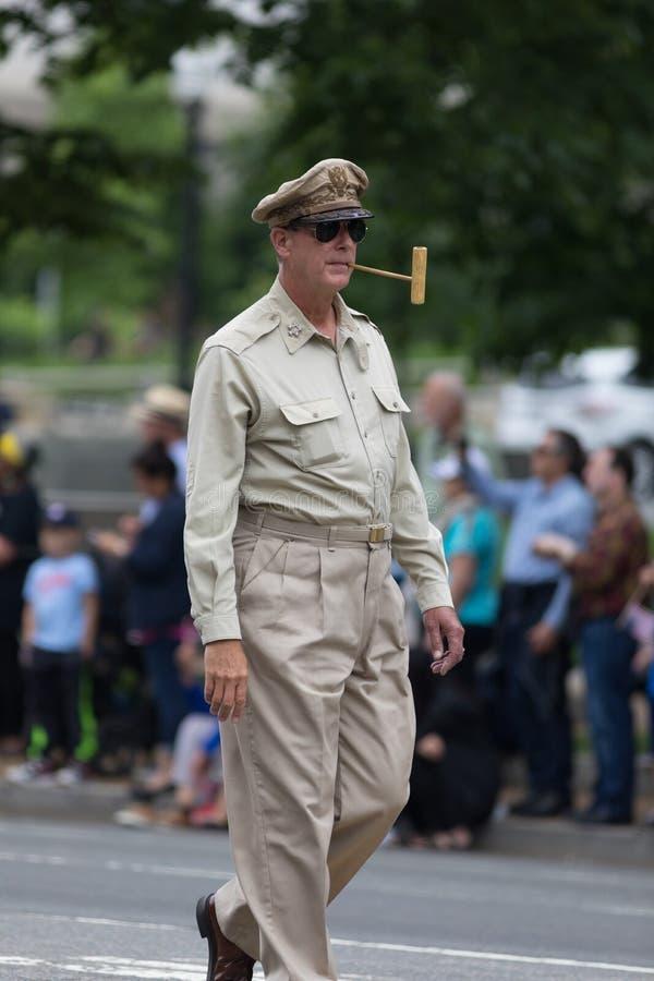 Национальный парад Дня памяти погибших в войнах стоковое фото