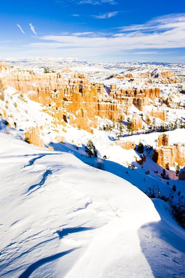 Национальный парк в зиме, Юта каньона Bryce, США стоковое изображение