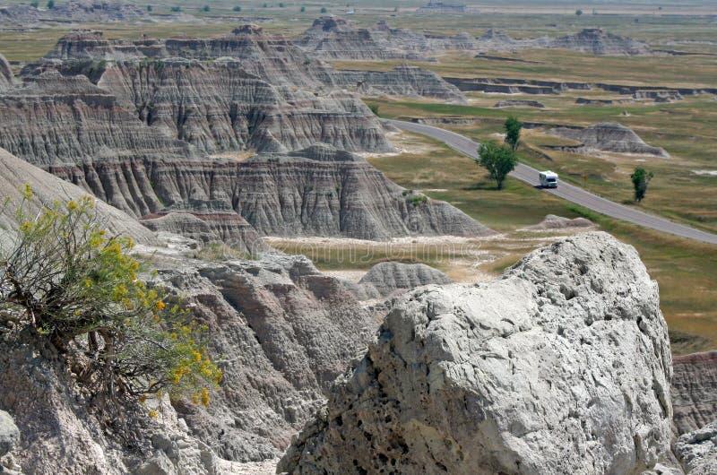 национальный парк Дакоты неплодородных почв южный стоковое изображение rf