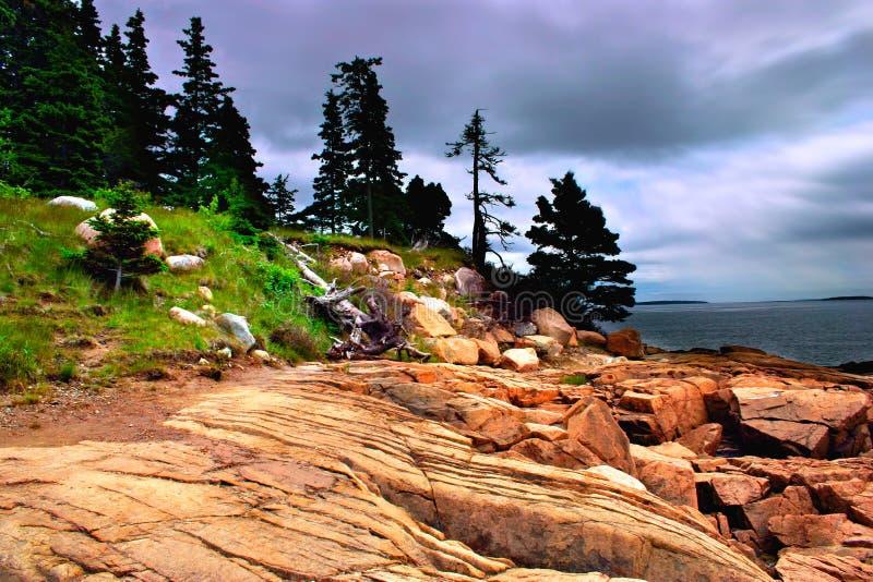 национальный парк Мейна acadia стоковое изображение