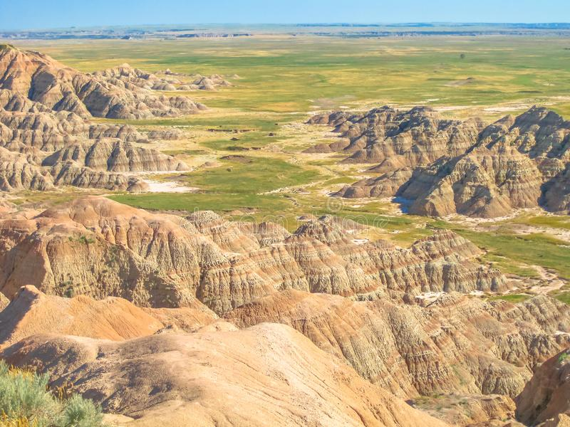 Национальный парк неплодородных почв Южной Дакоты стоковое фото rf