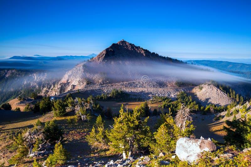 Национальный парк озера кратер в Орегоне, США стоковое фото rf