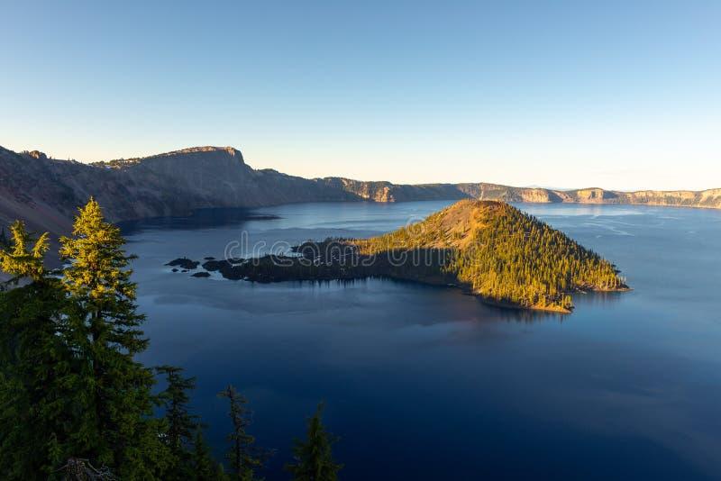 Национальный парк озера кратер в Орегоне стоковое изображение