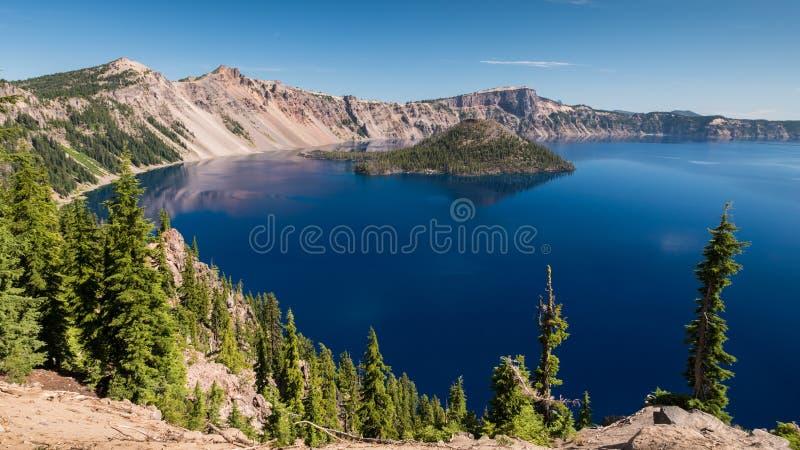 Национальный парк озера кратер, Орегон, США стоковое фото rf