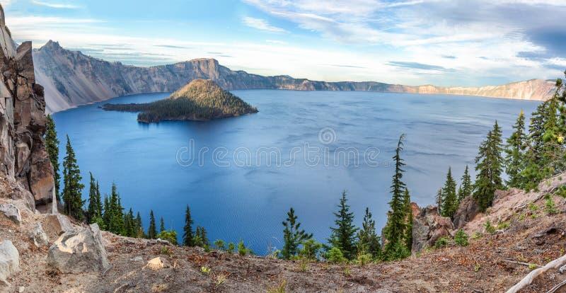 Национальный парк озера кратер, Орегон, США стоковые фотографии rf