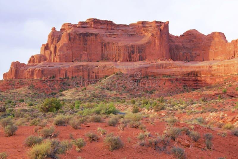 Национальный парк сводов в Moab, Юта стоковые изображения