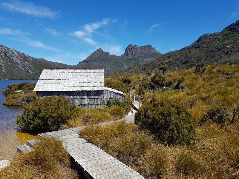 Национальный парк Тасмания Австралия горы вашгерда стоковые изображения rf